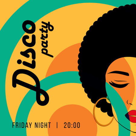 Disco party event Vectores