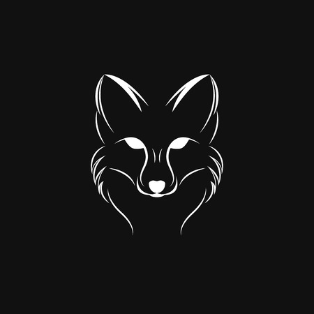 Vector image of a fox design on a black background, Vector fox for your design. Animal Logo. Illustration