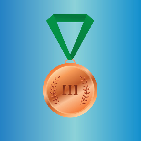 bronze medal: Bronze medal winners on the tape. vector illustration Illustration