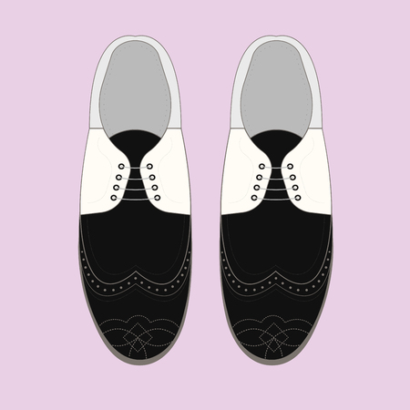 oxford: Vector illustration with men fashion shoes. Classic Brogue Shoes. Oxfords Mens Shoes Illustration