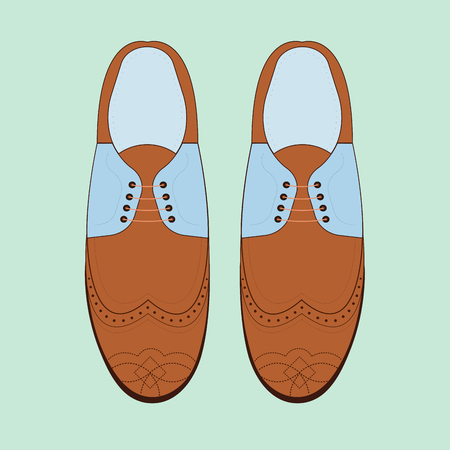 brogue: Vector illustration with men fashion shoes. Classic Brogue Shoes. Oxfords Mens Shoes Illustration