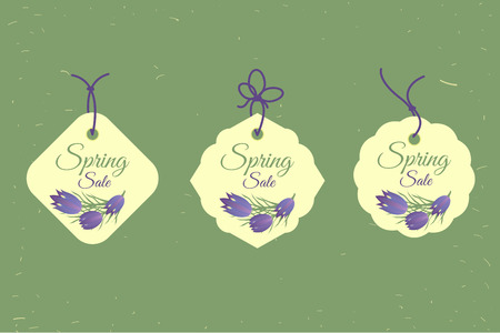 Spring sale banners poster tag design, voucher template. Big set. Floral frame for text, isolated on white background. Vector illustration.