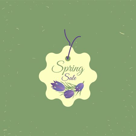 Spring sale tag. Banners poster tag design, voucher template EPS 10 vector, grouped for easy editing. No open shapes or paths.