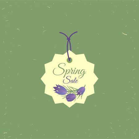 Spring sale tag. Banners poster tag design, voucher template EPS 10 , grouped for easy editing. No open shapes or paths.