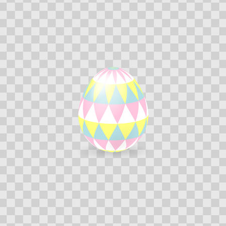 Colorful Easter egg isolated on transparent background. Vector illustration.