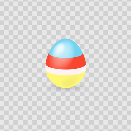 Colorful easter egg isolated on transparent background. Vector illustration