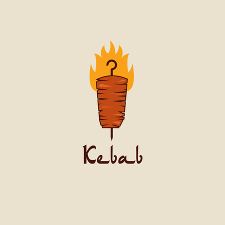 Doner kebab logo templates. Vector creative labels for Turkish and Arabian fast food restaurant