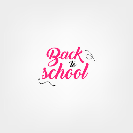 Welcome back to school label. School Background. Back to school sale tag. Vector illustration. Hand drawn lettering badges. Typography emblem set