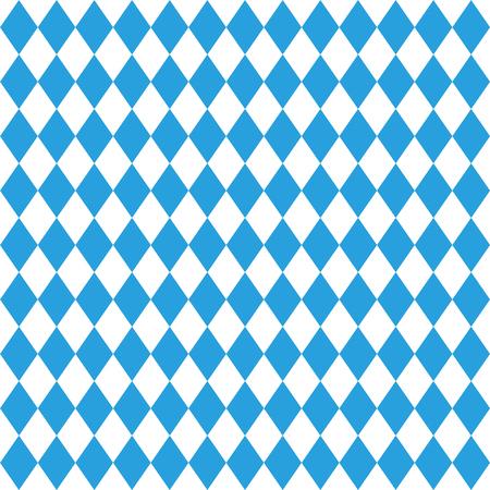 Modello Octoberfest. Ottobre Monaco di Baviera fest sfondo. Rhomb octoberfest ornamento blu. Modello tedesco tradizionale senza soluzione di continuità