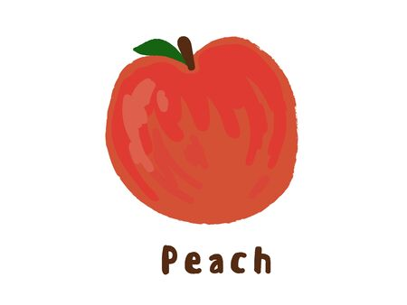 peachy: Persimmon. Fruit icon. Illustration. Child style. Funny. Clip art. Illustration