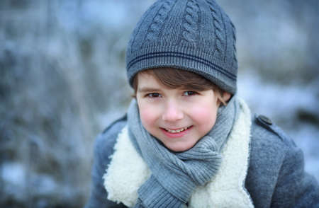 cold weather: cute boy winter time