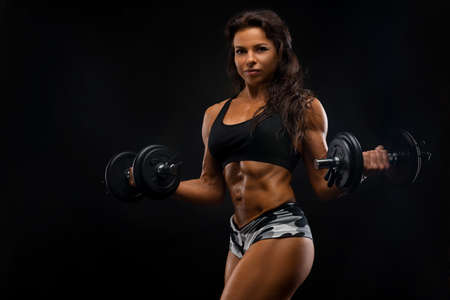 Perfect Fitness Body of Beautiful Woman