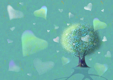 Tree whose fruits are hearts