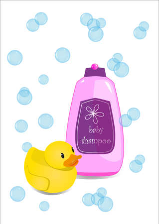 rubber duck: Shampoo and rubber duck