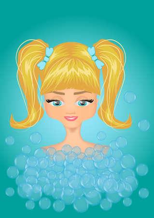 bathing: Bathing girl