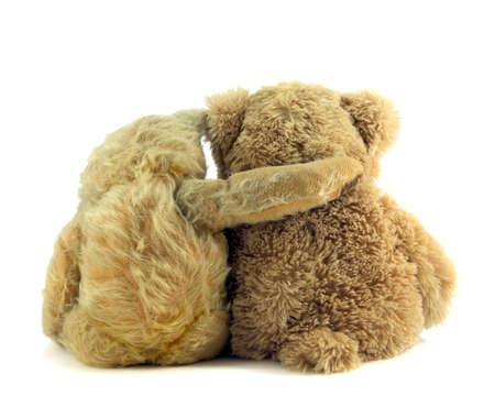 reassurance: Antiguo ted reconfortante joven oso de peluche.