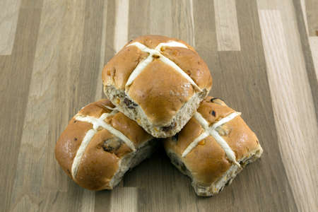 Easter hot cross buns photo