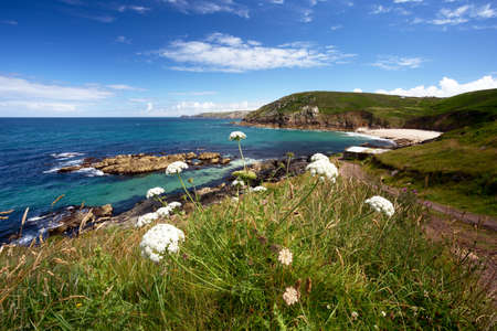 english west country: Portheras Cove Cornwall Uk