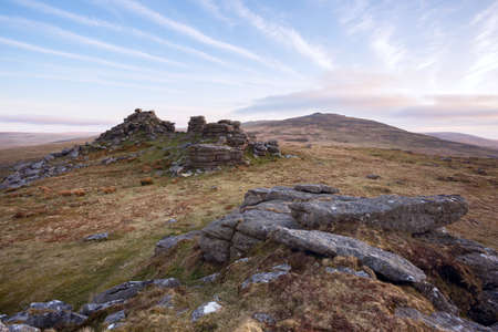 english west country: West mill Tor Dartmoor Devon Uk Stock Photo