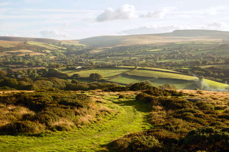 english west country: View from Meldon Hill Chagford Dartmoor Devon Uk Stock Photo