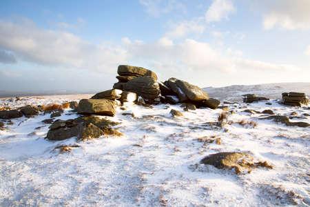 devon: Winter Rowtor Dartmoor Devon Uk