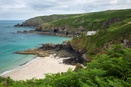 english west country: Treen Cove Cornwall Uk