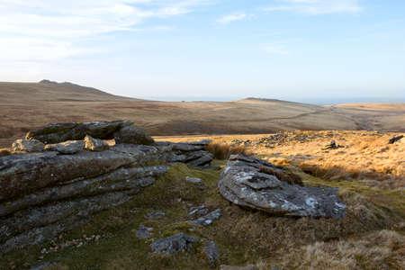 devon: Dartmoor view Devon Uk Stock Photo