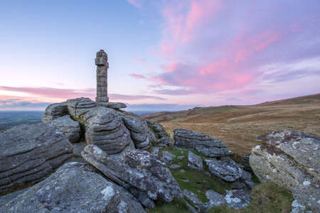 english west country: Widgery cross Dartmoor National Park Devon Uk