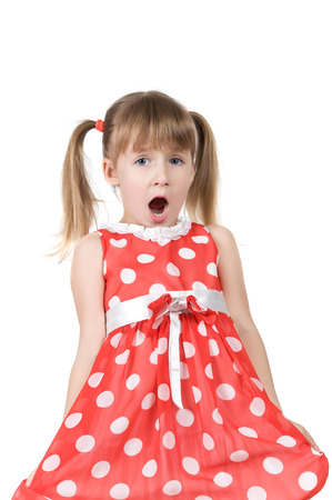 outraged: Little girl surprised and outraged