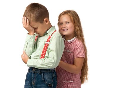 delito: conflicts between children. quarrels and offense