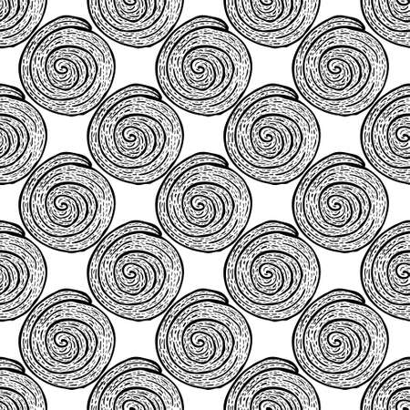 Abstract scribble Hand drawn scrawl sketch Chaos doodle seamless pattern 免版税图像