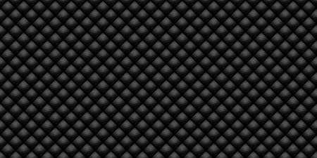 Dark black Geometric grid Carbon fiber background Modern dark abstract seamless texture Banque d'images