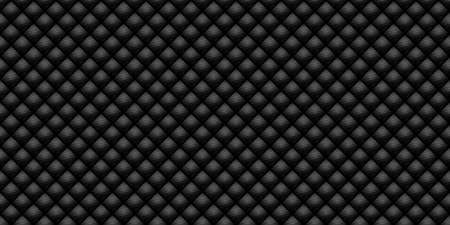 Dark black Geometric grid Carbon fiber background Modern dark abstract seamless texture Reklamní fotografie
