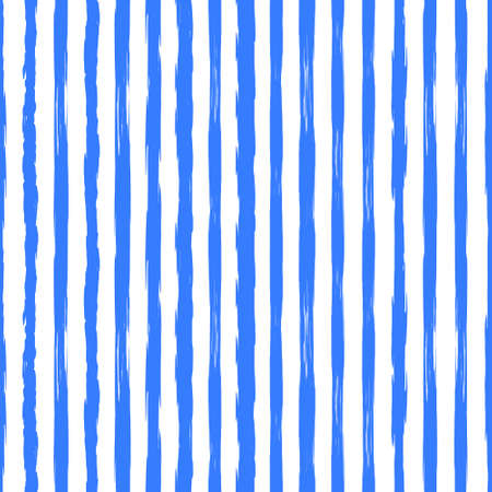 Abstract vertical monochrome striped grunge pattern Hand drawn blue ink stripe background Banque d'images