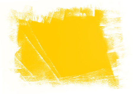 abstract yellow and white paint  grunge brush texture background