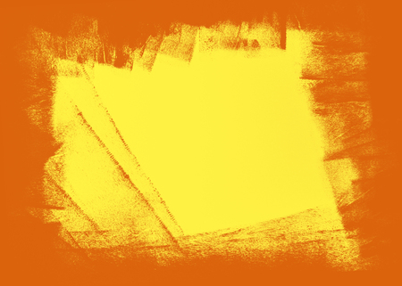 abstract yellow and orange paint  grunge brush texture background