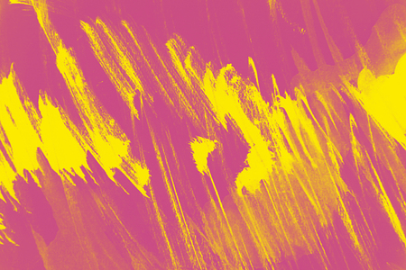 abstract yellow and pink paint  grunge brush texture background