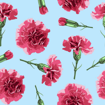 packing paper: Seamless pattern carnations flowers. Floral background, wallpaper,  wrapping, packing paper. Elegance pattern with realistic red flowers. Vintage vector illustration, eps 10