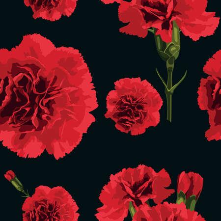carnations: Seamless pattern carnations flower. Floral background. Vector illustration. Illustration