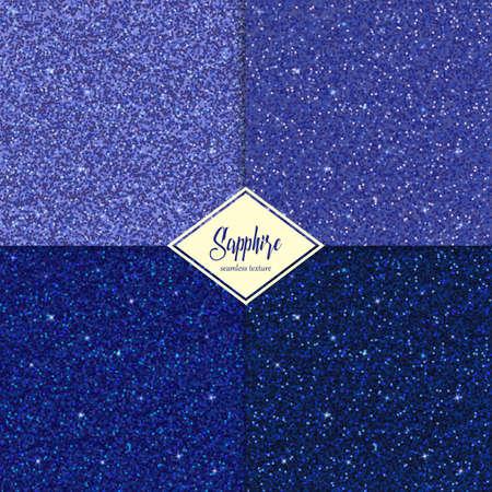 sapphire gemstone: Set of Golden sapphire texture with shine, glossy confetti, glitter background