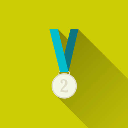 silver medal: Silver medal winner, second place.