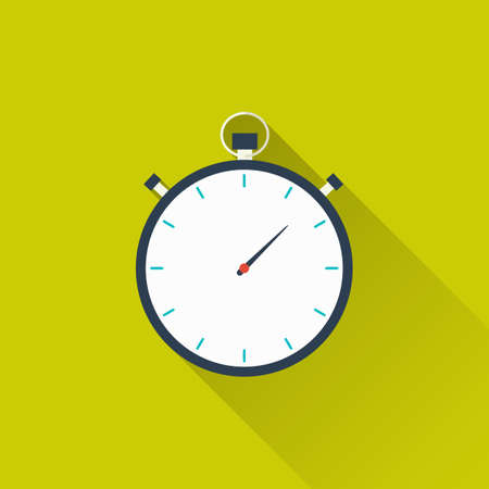 active lifestyle: Stopwatch, timer icon. Concept of victory, achievement, goal, active lifestyle. Illustration
