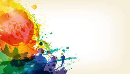 gulal: Happy Holi. Indian Fest Party celebration. Spring, festival of colour, splash, paint clouds, powder paint.
