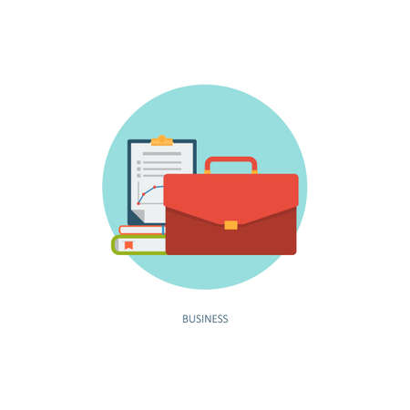 file folder: B?usiness icon. Creative concept of professional training. Financial report. Flat design, minimalist style, modern colours - limpet shell. Vector illustrations for web, banners, infographics, app