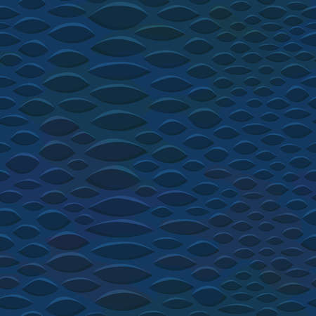 Seamless leather textures. Snake skin texture. Skin of blue snake, reptile, lizard. Abstract vector illustration. Illustration