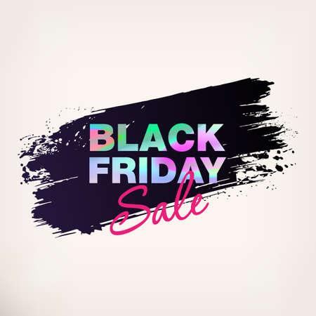 Black Friday Sale Poster. Black Friday banner. Modern concept for cover design. Sale Discount banners. Template advertising poster design for gift card, flyer, presentation. Vector illustration.