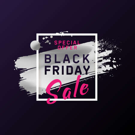Black Friday Sale Poster. Black Friday layout banner. Modern concept for  cover design. Template advertising poster design for banners, web, gift card, flyer, presentation. Vector illustration.