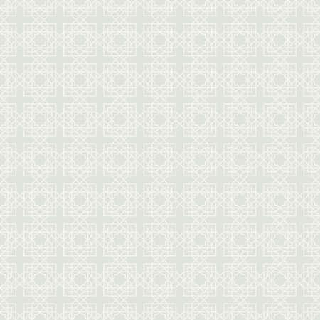 Abstract seamless geometric pattern. Arabic ornament. Islamic design. Modern stylish texture with linear mesh. Simple geometric light print. Editable vector illustration