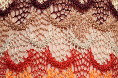multi-colored texture of the material crocheted