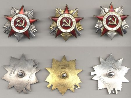 coppers: Soviet silver and golden orders